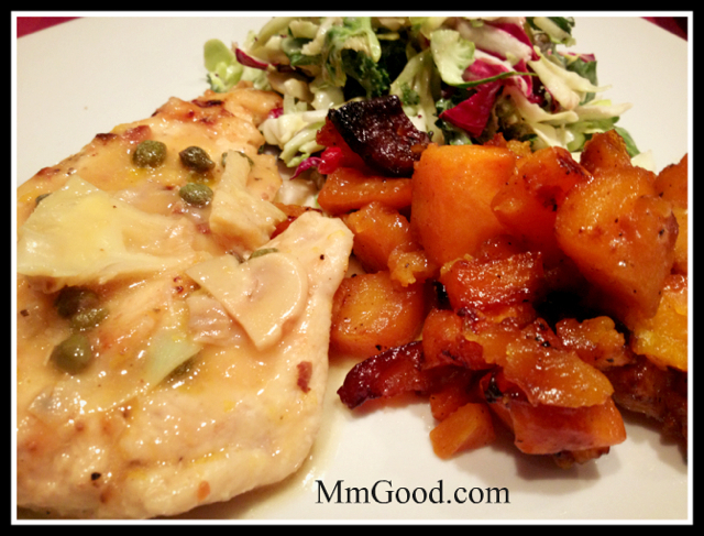 Chicken:Butternut Squash plated