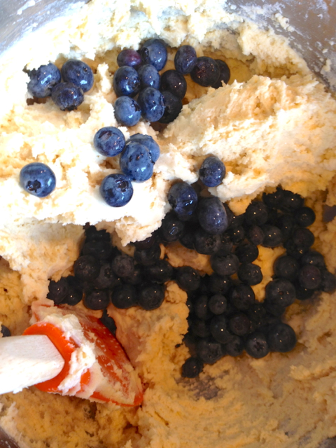 Blueberries in Dough