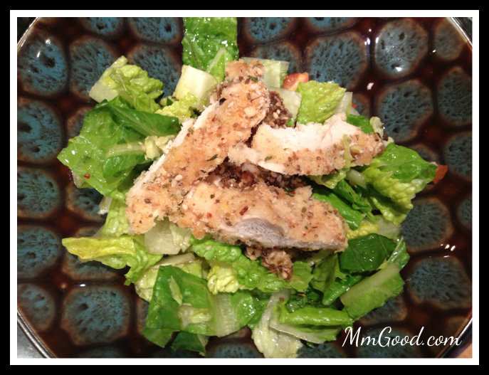 Salad with Chicken with Dukkah