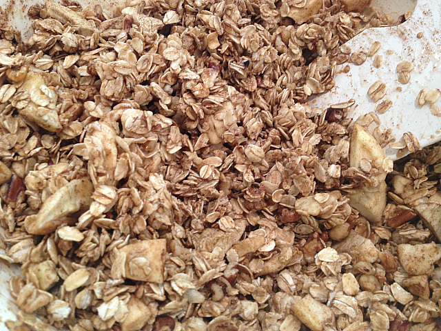 Apple Pie Granola - wapple juice