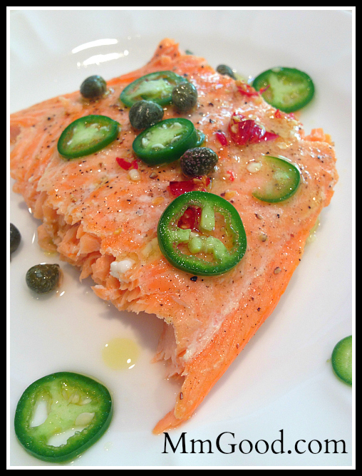 Baked Salmon with Jalapeno