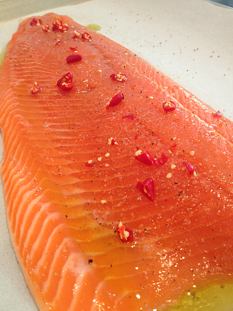 Baked Salmon with Thai Chilli