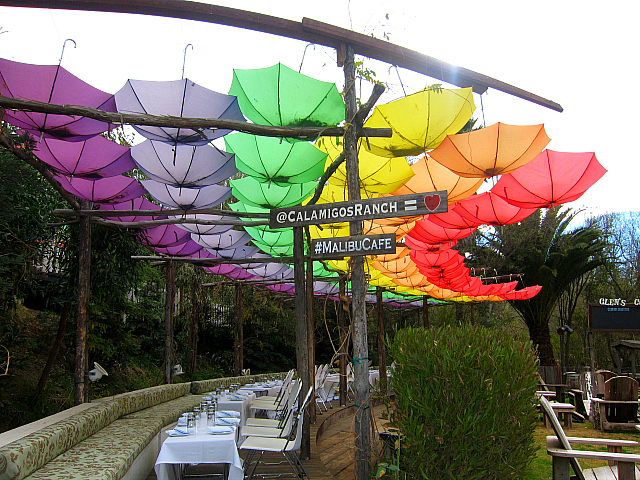 Calamigos Ranch - umbrellas