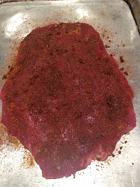 Flank Steak - seasoned