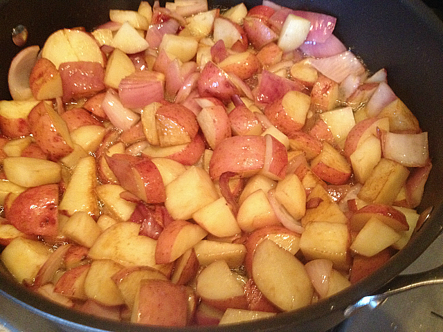 Marks Potatoes - with onions