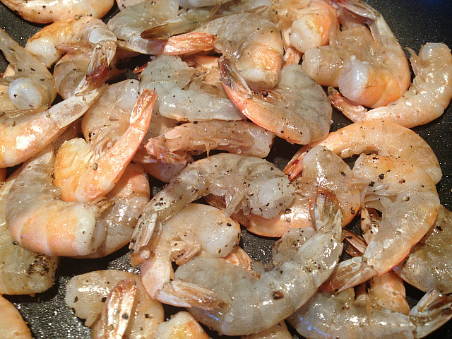 Shrimp - par cooked
