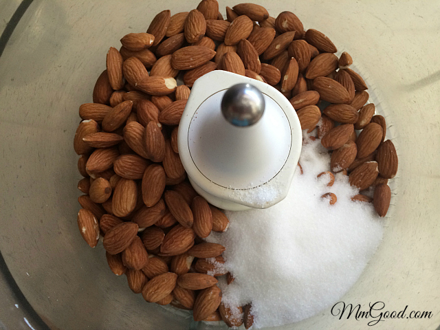 almonds sugar