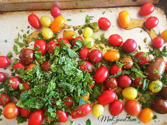 tomatoes with mint
