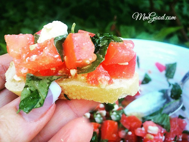 bruschetta with feta