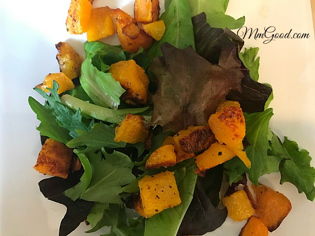 roasted-butternut-squash-and-salad
