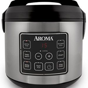 Aroma-Housewares-20-Cup-Cooked-10-cup-uncooked-Digital-Rice-Cooker-Slow-Cooker-Food-Steamer-SS-Exterior-ARC-150SB-0