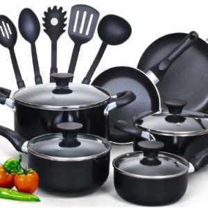 Cook-N-Home-15-Piece-Non-stick-Black-Soft-handle-Cookware-Set-0