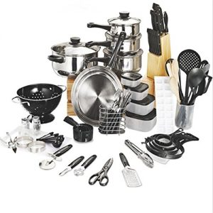 Eshion-Home-Dorm-Mirror-Polished-Stainless-Steel-80-Pieces-Kitchen-Combo-Set-0