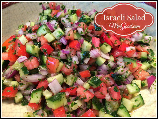 Israeli Salad (Cucumber, Tomato & Red Onion)…made with a twitst ...