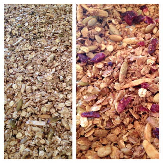 Granola with Nuts and Cranberries