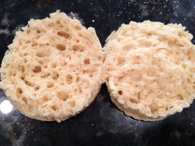 Muffins cut open
