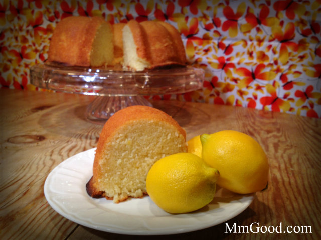 lemon cake on table