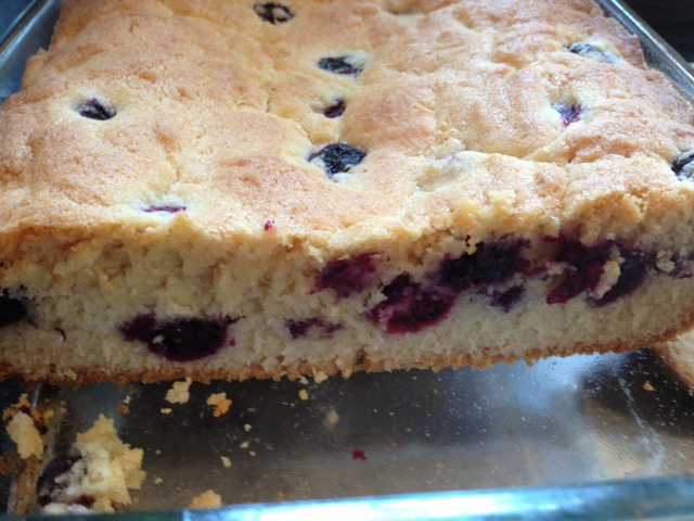 baked blueberry cake