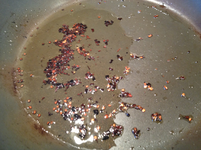 burnt red pepper flakes