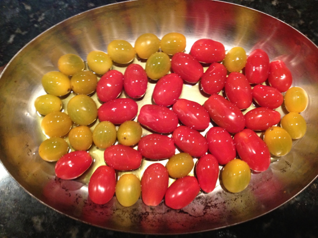 roasted tomatoes from the start