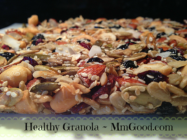 Healthy Granola - baked black background