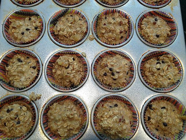 Oatmeal Banana Muffins - Prebaked