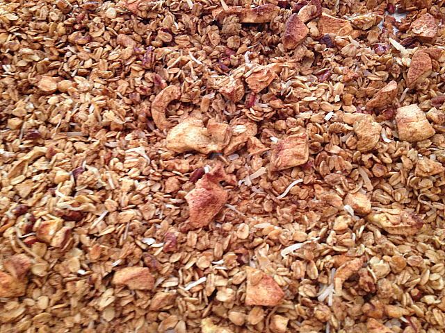 Apple Pie Granola - done