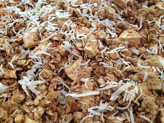 Apple Pie Granola - pre baking