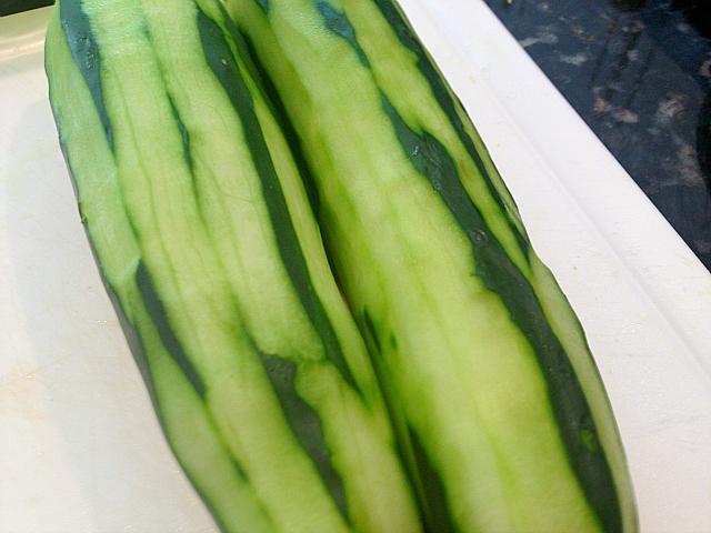 Cucumber Salad - peeled