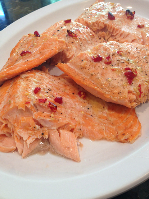 Baked Salmon Plated