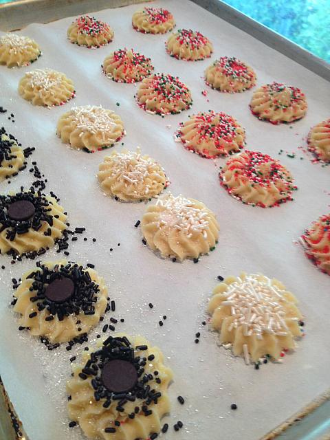 Spritz Cookies - decorated