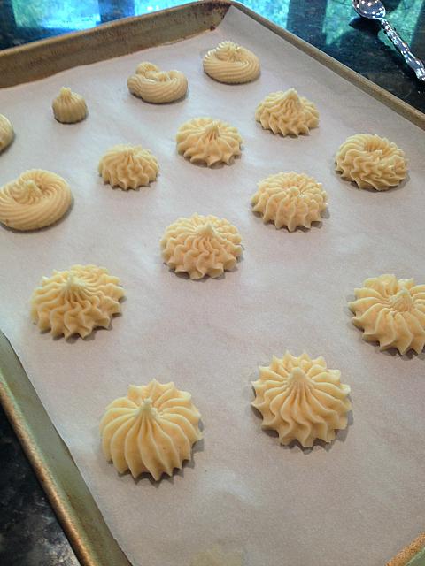 Spritz Cookies - on sheet