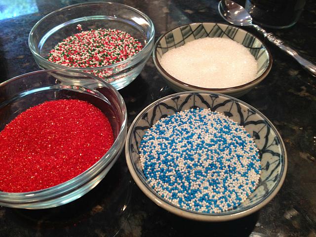 Spritz Cookies - sprinkles