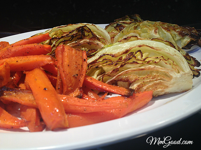 Roasted Carrots Cabbage |MmGood.com