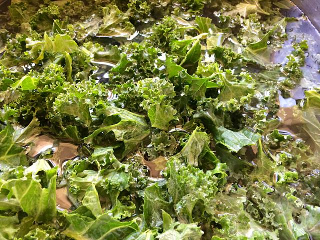 Kale washed