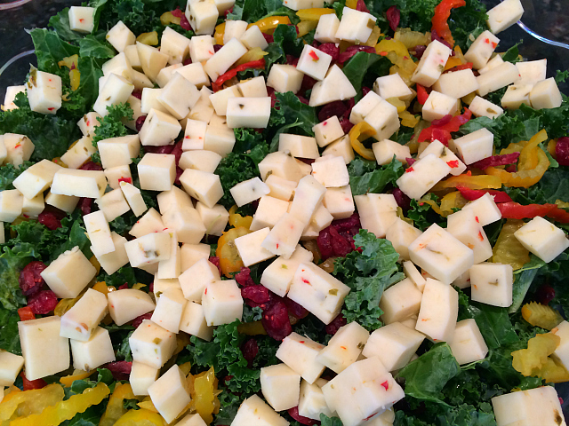 kale with cheese