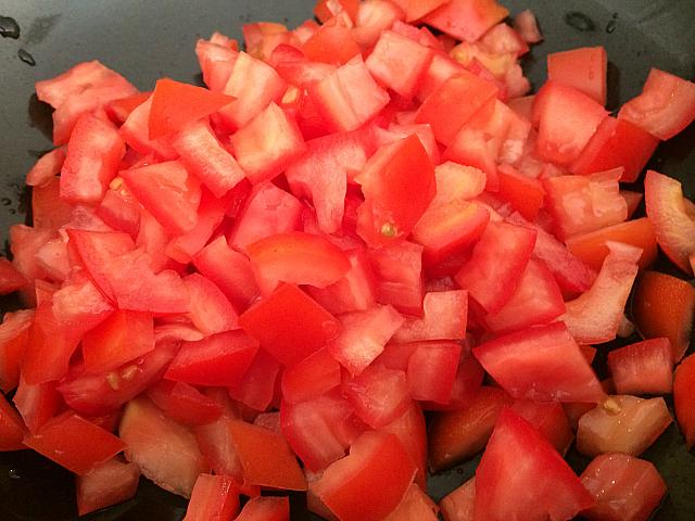 Israeli Salad - Cut Tomatoes