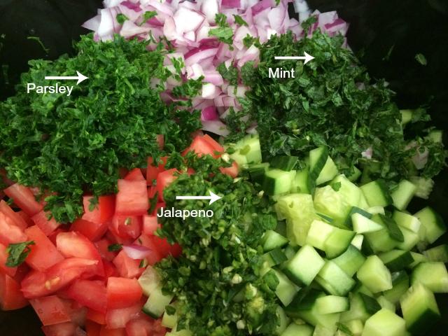 Israeli Salad - Herbs
