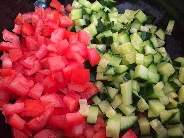 Israeli Salad - tomato cucumber