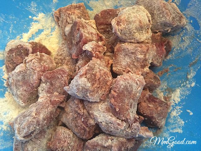 beef floured