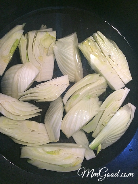 boiled fennel
