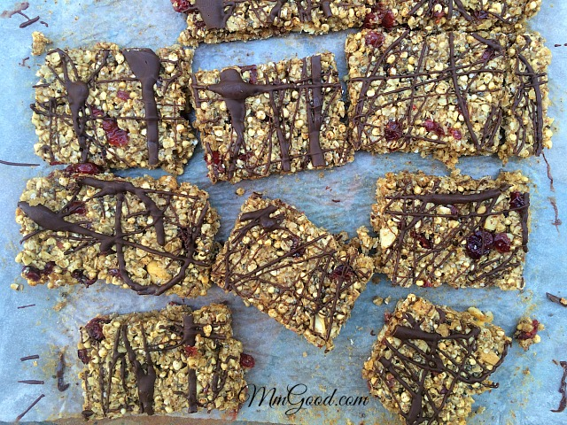 Sliced Granola bars